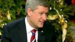 Prime Minister Stephen Harper speaks during his annual year-end interview with CTV News in Ottawa, on Monday, Dec. 21, 2009.