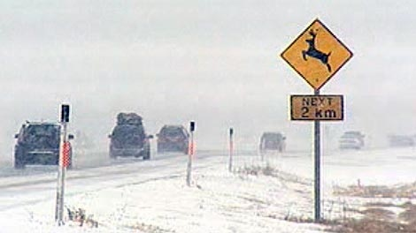 RCMP were reminding drivers to slow down and drive with caution.