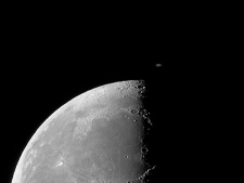 A shot of the moon taken with an 8-inch Dobsonian telescope. (courtesy of Paul Greenhalgh)