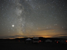 Amateur astronomers camp out under the stars during the eight-day Merritt Star Quest. (courtesy of Randy Giesbrecht)