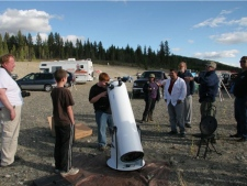 The area amateur astronomers want to turn into a dark-sky preserve is nestled between Merritt, Kamloops, Kelowna and Princeton. (couresty of Randy Giesbrecht)