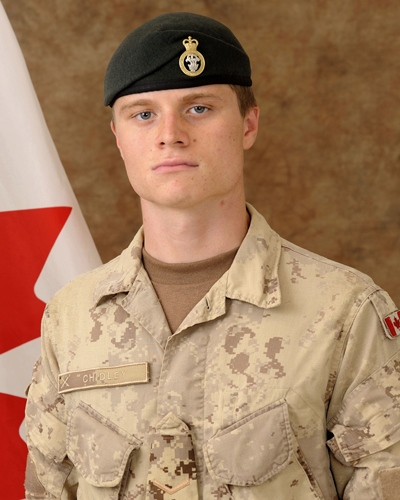 Pte. Garrett Chidley, 21, of Cambridge, Ont. (Courtesy Department of National Defence)