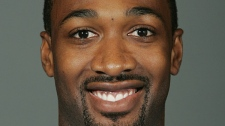 Washington Wizards' Gilbert Arenas is shown NBA basketball media day for the Wizards in Washington, Sept. 26, 2008. (AP / Haraz N. Ghanbari)
