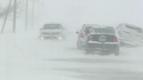 Whiteout conditions caused a number of pileups in the GTA on Jan. 2, 2010.