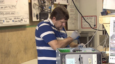 Free Geek in Vancouver, B.C., refurbishes old computers and gives them to low income people or schools.