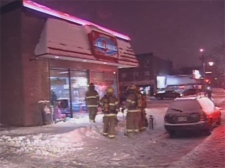 firebombed restaurant