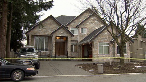 The body of 32-year-old Tejinder Kaur Dhanoa was found in this Surrey, B.C., home on Tuesday. Her husband, Kamaljit Singh Dhanoa, 33, has been charged with second-degree murder. Jan. 6, 2010. (CTV)