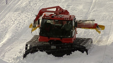 B.C.'s Cypress Mountain closed because of heavy rains on Jan. 11, 2010. The resort plans on using Snowcats to pull down snow from upper elevations to repair runs once the storm ends.