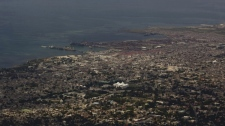 The Haitian capital of Port-au-Prince is seen from the Boutilier viewpoint, on Tuesday, March 31, 2009. (AP / Ramon Espinosa)