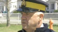 In this undated file photo, Sgt. Mark Gallagher of the RCMP speaks with CTV News in Halifax.