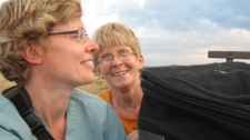 Canadian nurse Yvonne Martin, right, is seen in a photo taken during a medical mission to Haiti in 2009.