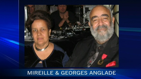 Georges Anglade and his wife Mireille are seen in this image made available to CTV's Canada AM.