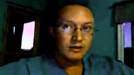 Grant Rumford, who has been in Haiti with his family since September, appears on CTV's Canada AM during an interview on Skype, Friday, Jan. 15, 2010.