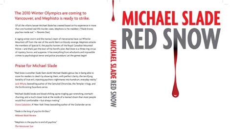 The cover of Red Snow, the latest Special X novel by Michael Slade. Jan. 17, 2010.