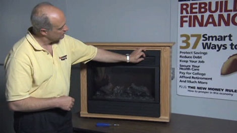 """Consumer Reports' Jim Nanni checked out the Heat Surge, which costs $298 and up if you order what the company calls a """"Hand-built Amish Fireplace Mantle."""""""