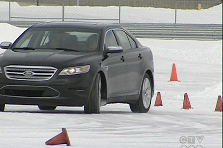Skid-training is a must for driving in Quebec's winters. (Jan. 21, 2010)