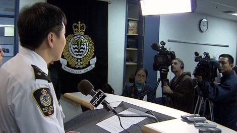 Vancouver Police Chief Jim Chu has personally apologized for a case of mistaken identity that saw an innocent man badly injured. Jan. 22, 2010.
