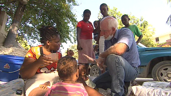 Dr. John Yates of Oakville, Ont. left Haiti two hours before the earthquake erupted, and flew back to help victims in need of medical help.