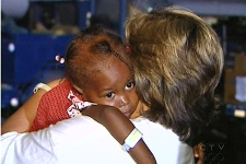 A Haitian orphan, on her way to Canada (Jan. 24, 2010)