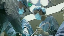 File image of a hospital surgical team