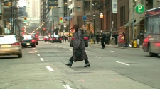 Despite the spate of pedestrian traffic deaths, people continue to jaywalk on on Toronto's streets.