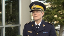 RCMP Supt. Janice Armstrong said officials learned about an alleged officer-witness relationship in December. Jan. 27, 2010. (CTV)