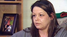 Crystal Irvine's son was murdered in December by a suspect who burst into her home.