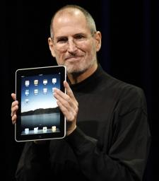 Apple CEO Steve Jobs introduces the new iPad during an event in San Francisco, Wednesday, Jan. 27, 2010. (AP / Paul Sakuma)