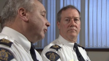 Assistant Supt. Al MacIntyre and Peter German speak to CTV News about the B.C. RCMP's reputation and image after recent incidents of their members getting in trouble. Thursday, Jan. 28, 2010 (CTV)
