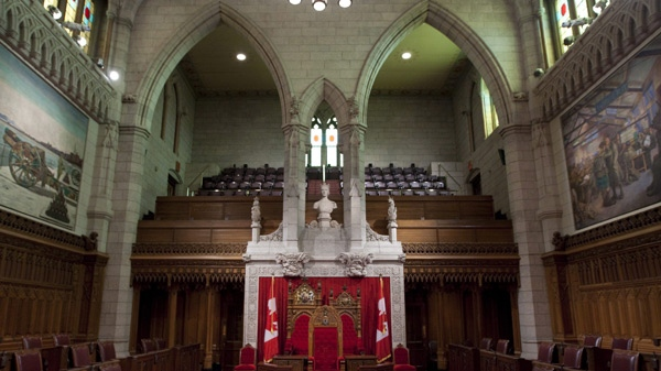 The Senate chamber is seen on Parliament Hil in Ottawa Thursday, August 27, 2009. Reports say Prime Minister Harper is about to fill up to nine Senate vacancies with some of his closest Conservative supporters. (Adrian Wyld / THE CANADIAN PRESS)