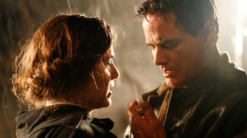 Paul Gross and Caroline Dhavernas are seen in a scene from the film 'Passchendaele.' Gross' grandfather Michael Dunne, a WWI soldier, was the inspiration behind the film.