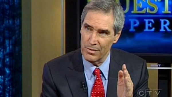 Liberal Leader Michael Ignatieff speaks with CTV's Question Period in Ottawa, on Sunday, Jan. 31, 2010.