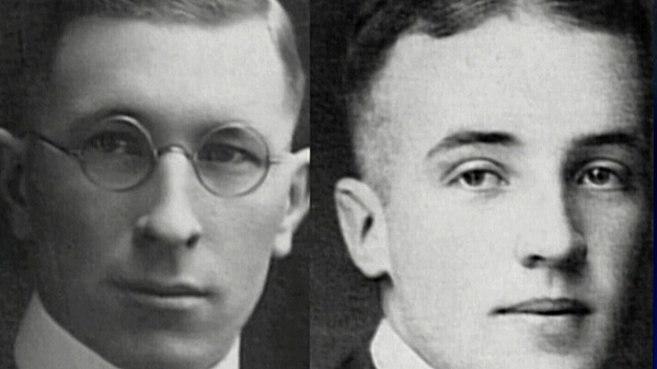 Dr. Frederick Banting (left) and Dr. Charles Best discovered insulin in the 1920s.