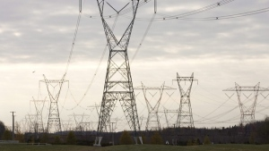 Hydro Quebec power lines are shown Thursday Oct. 29, 2009 in Levis Que. (Jacques Boissinot / THE CANADIAN PRESS)