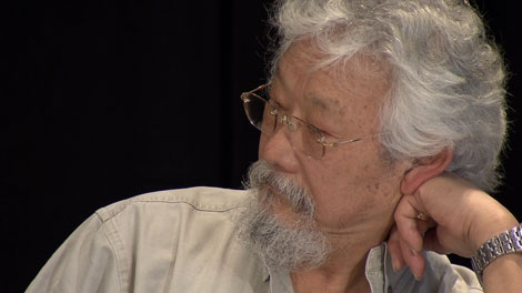 David Suzuki speaks about a 2010 sustainability study in Vancouver on Feb. 3, 2010. The report awarded Games organizers a bronze medal for sustainability, offering a fairly positive review while stopping short of handing organizers a gold. (CTV)