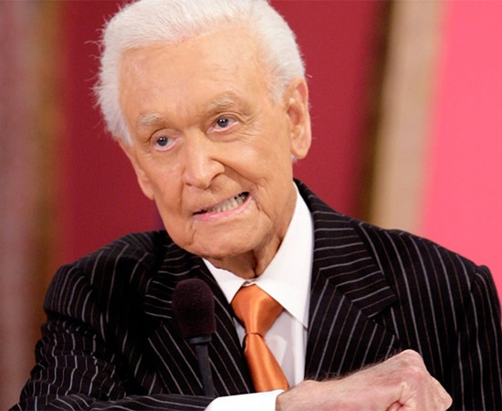 Bob Barker gestures during live taping of 'The Price Is Right' at CBS Studios in Los Angeles in this October 2006 file photo. (AP / Damian Dovarganes)