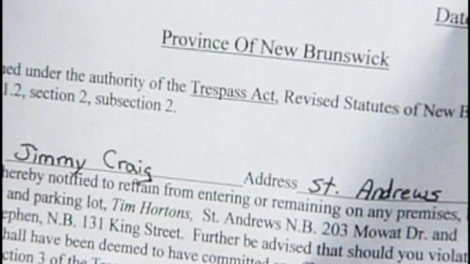 After filing two complaints the company's corporate office, and meeting with a store manager, Jimmy Craig was given a letter informing him of the ban.