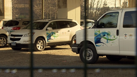 GM plans to sell its fleet of 4,600 Olympic vehicles after the Games are over. Feb. 11, 2010. (CTV)