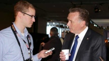 Minister of State of Foreign Affairs Peter Kent speaks with CTV.ca's Andy Johnson at the Canadian International Auto Show.