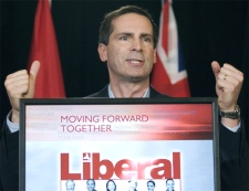 Ontario Premier Dalton McGuinty addresses a party faithful breakfast meeting in Ottawa on Thursday, Oct. 11, 2007. (CP / Fred Chartrand)