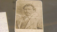 A rare photo of Louis Riel from 1872 is shown while on display at the Saint Boniface museum on Monday, Feb. 15, 2010.
