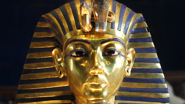 In this Feb. 15, 2010, the golden mask of Egypt's famous King Tutankhamun is displayed at the Egyptian museum in Cairo, Egypt. (AP Photo / Amr Nabil)