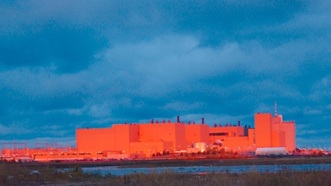 The Bruce A generating station is seen at sunrise in this photograph provided by Bruce Power.