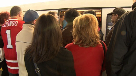 Transit ridership was way up during the first week of the Olympic Games. Feb. 20, 2010. (CTV)