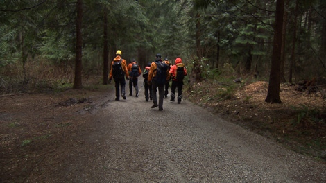 Search and rescue crews scoured Stanley Park Tuesday for former 'Growing Pains' actor Andrew Koenig, who has been missing for a week. Feb. 23, 2010. (CTV)