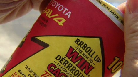 "Tim Hortons launched their 24th annual ""roll up the rim to win"" campaign on March 1, 2010, the same day McDonald's began offering their customers free coffee for two weeks."