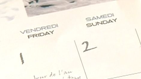 The City of Ottawa apologized Wednesday for making and distributing a bilingual calendar that left out a day.