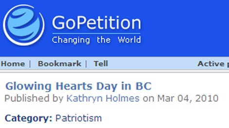 Kate Holmes' online petition calling for a statutory holiday in February in B.C. has already collected more than 1450 signatures. March 6, 2010. (CTV)
