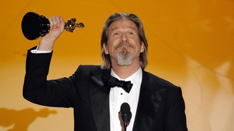 Jeff Bridges accepts the Oscar for best performance by an actor in a leading role for 'Crazy Heart' at the 82nd Academy Awards Sunday, March 7, 2010, in the Hollywood section of Los Angeles. (AP Photo/Mark J. Terrill)