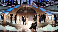 Oscar nominees are seen on stage at the start of the 82nd Academy Awards in the Hollywood section of Los Angeles on Sunday, March 7, 2010. (AP / Mark J. Terrill)